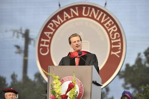 Lowell Milken Speaks at 2015 Chapman University Commencement