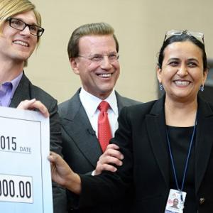 Lowell Milken braces Shalini Sharma